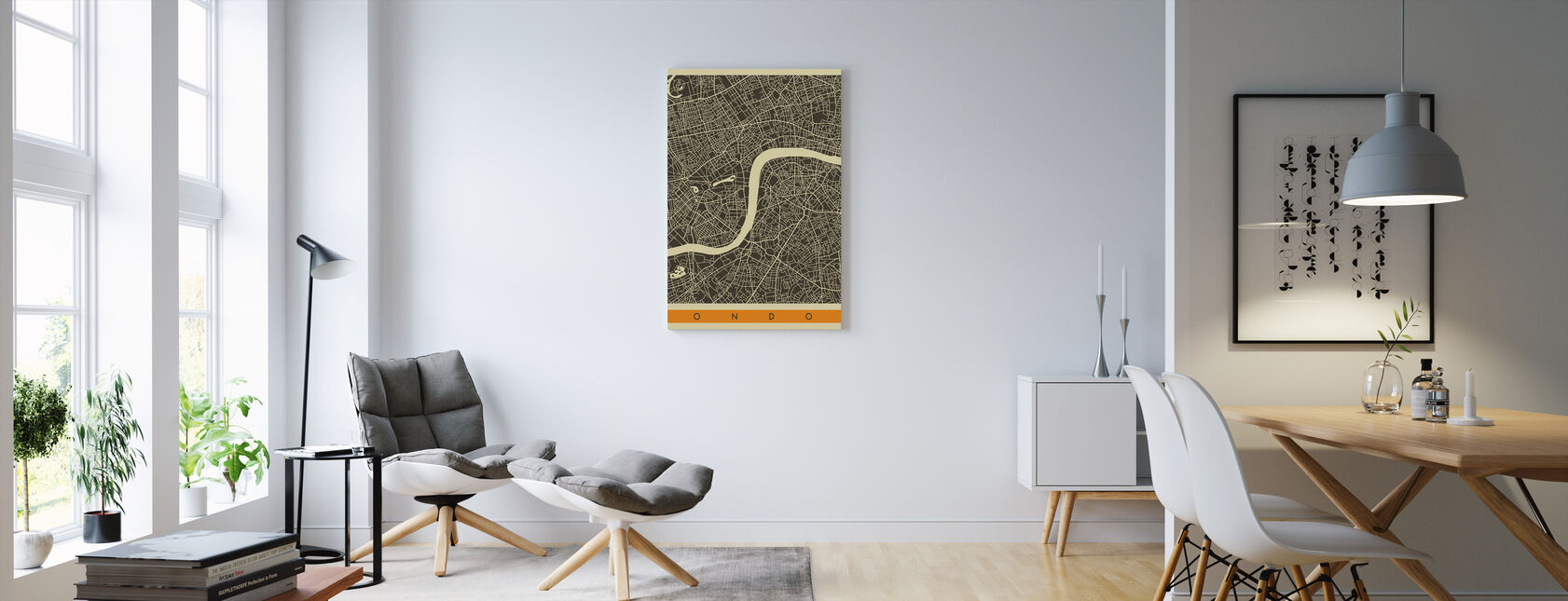 City Map - London - Canvas print - Living Room