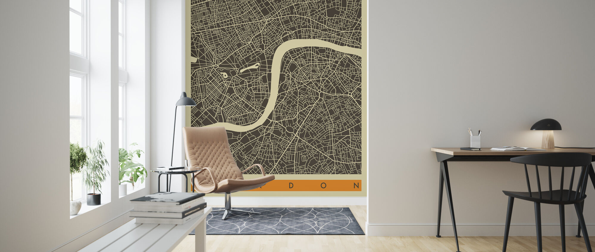 City Map - London - Wallpaper - Living Room