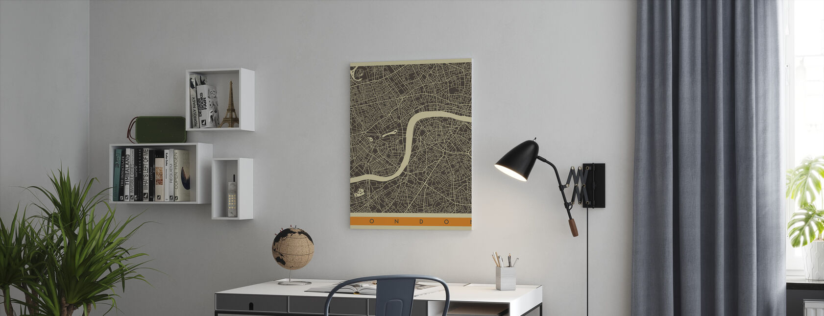 City Map - London - Canvas print - Office