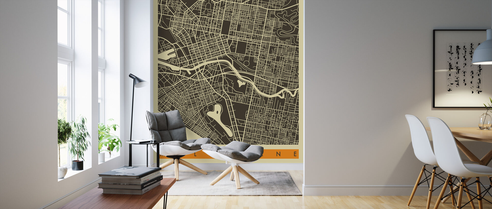 City Map Melbourne Decorate With A Wall Mural Photowall
