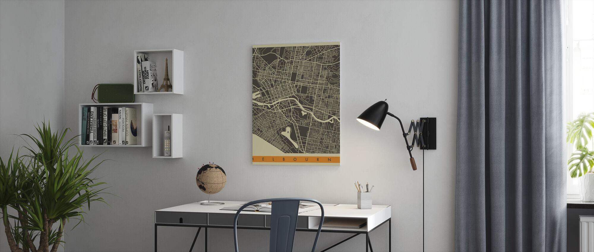 City Map - Melbourne - Canvas print - Office