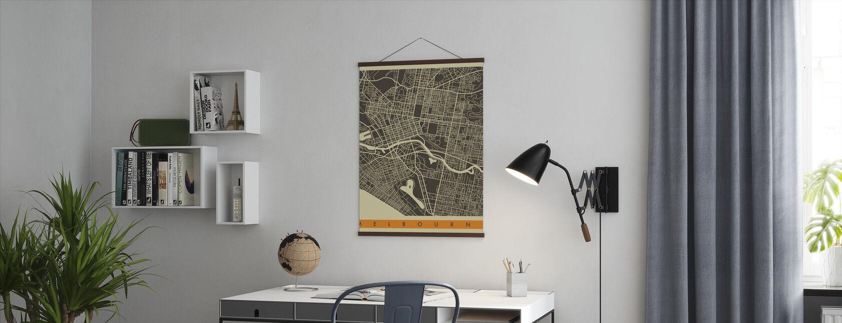 Kaupunki Kartta - Melbourne - Juliste - Toimisto