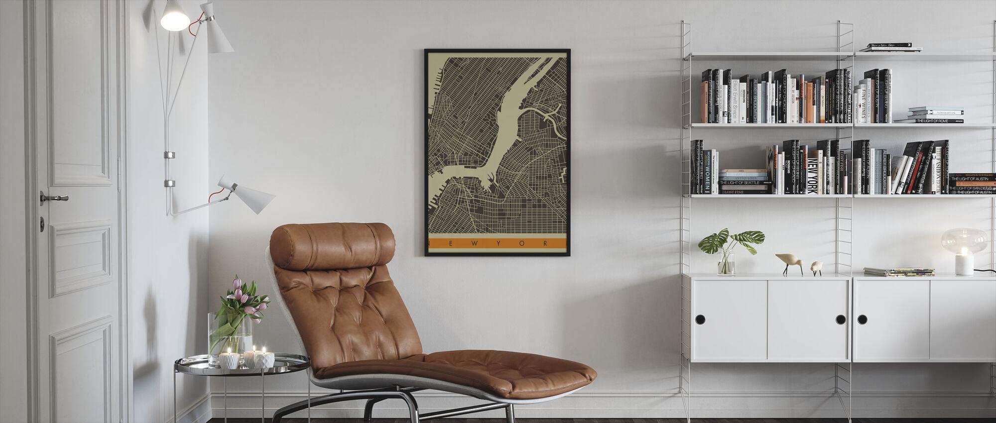 City Map - New York - Framed print - Living Room