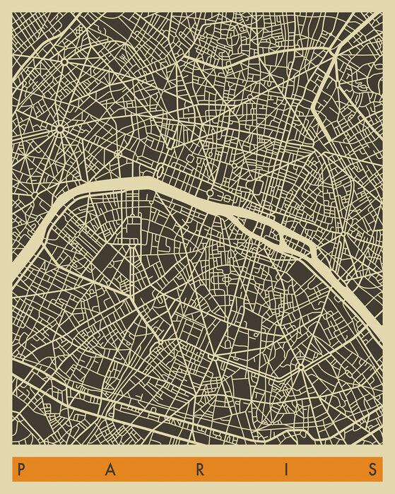 City Map Paris Edulliset Julisteet Photowall