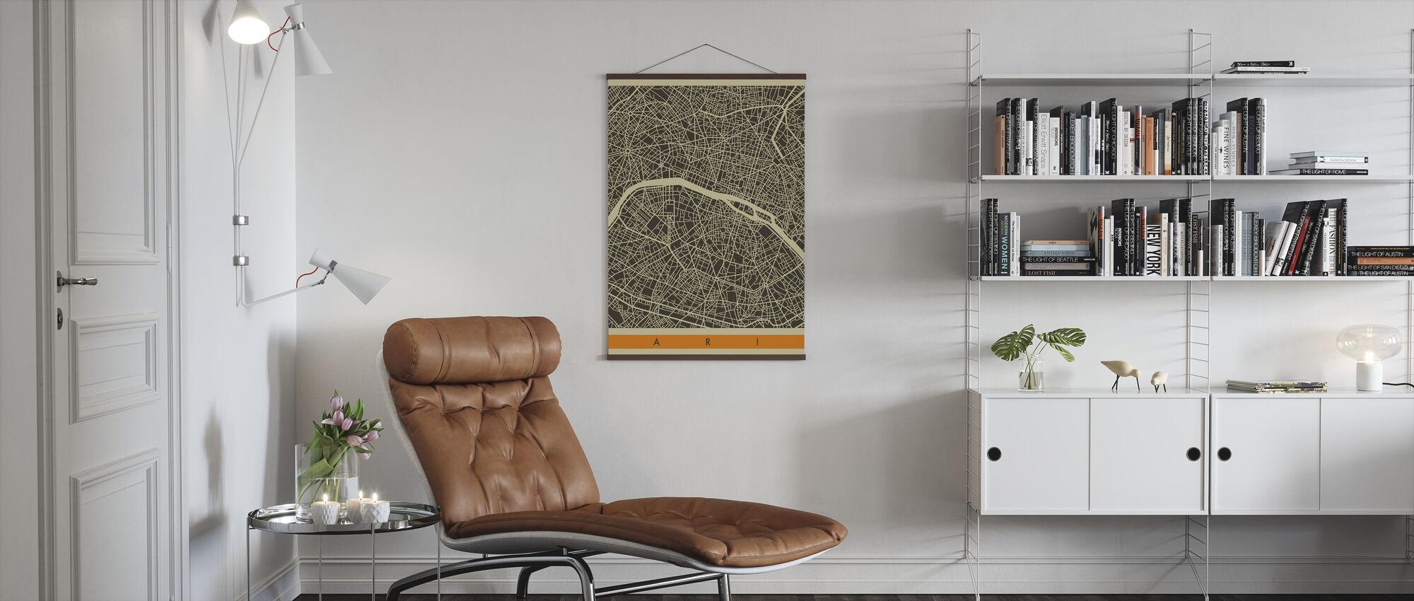 City Map - Paris - Poster - Living Room