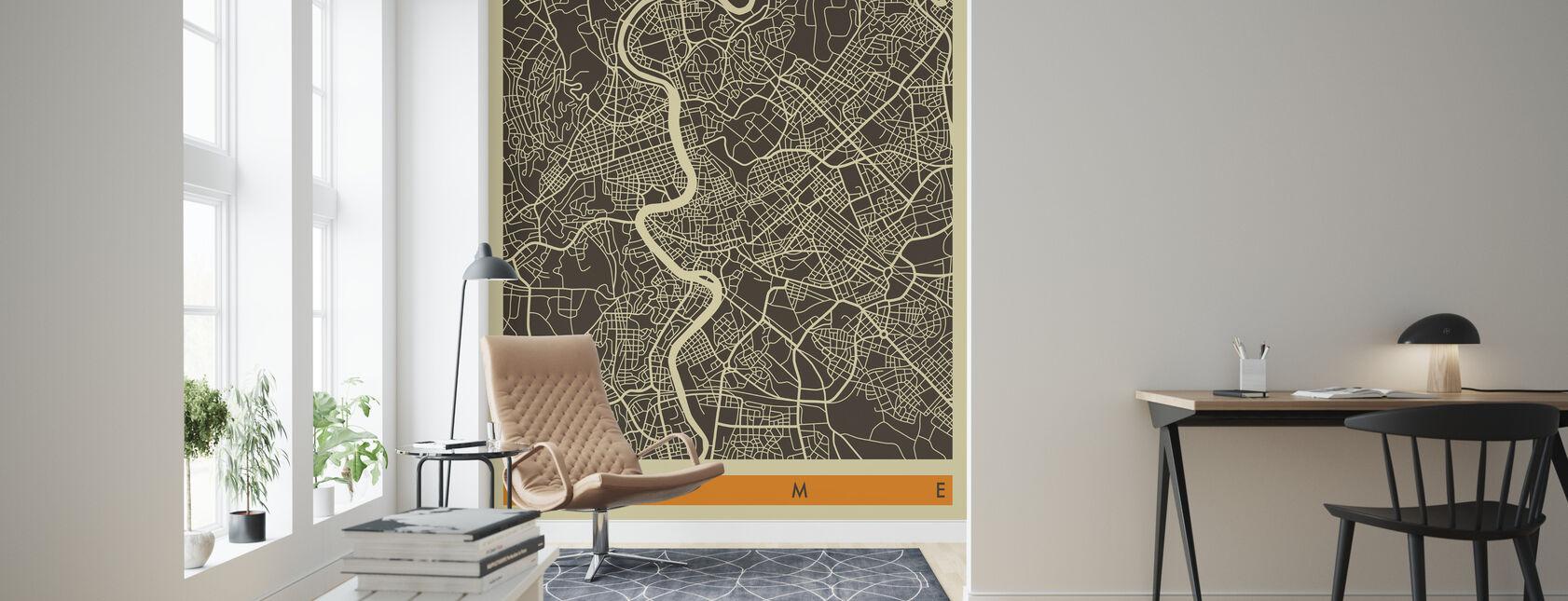 City Map - Rome - Wallpaper - Living Room