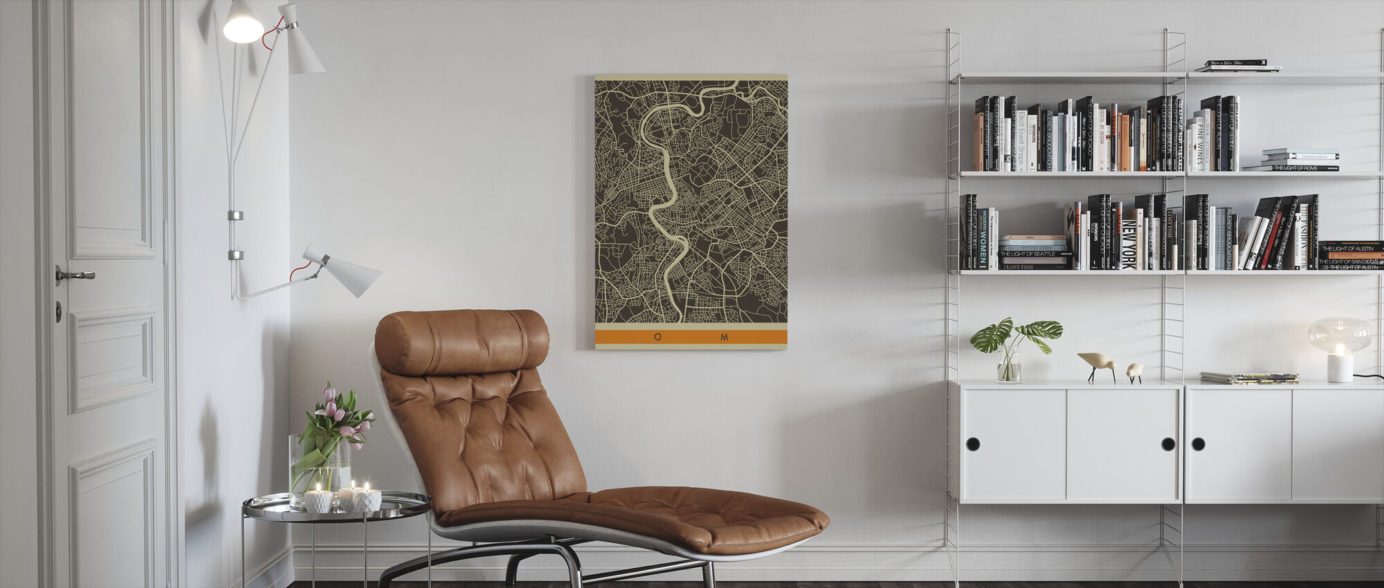 City Map - Rome - Canvas print - Living Room