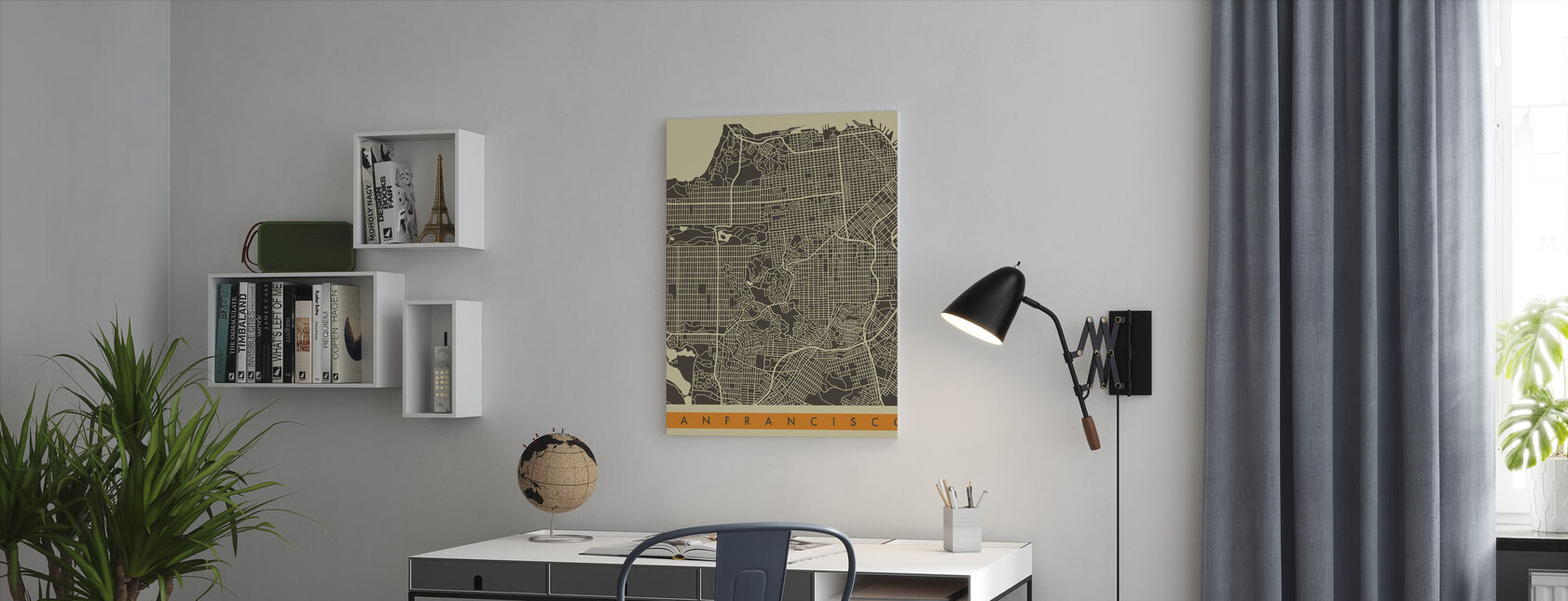Bykart - San Francisco - Lerretsbilde - Kontor