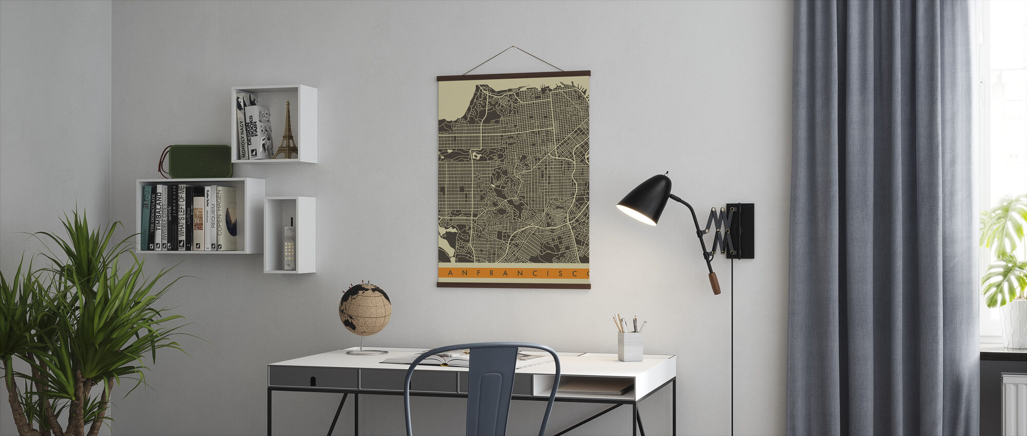 City Map - San Francisco - Poster - Office