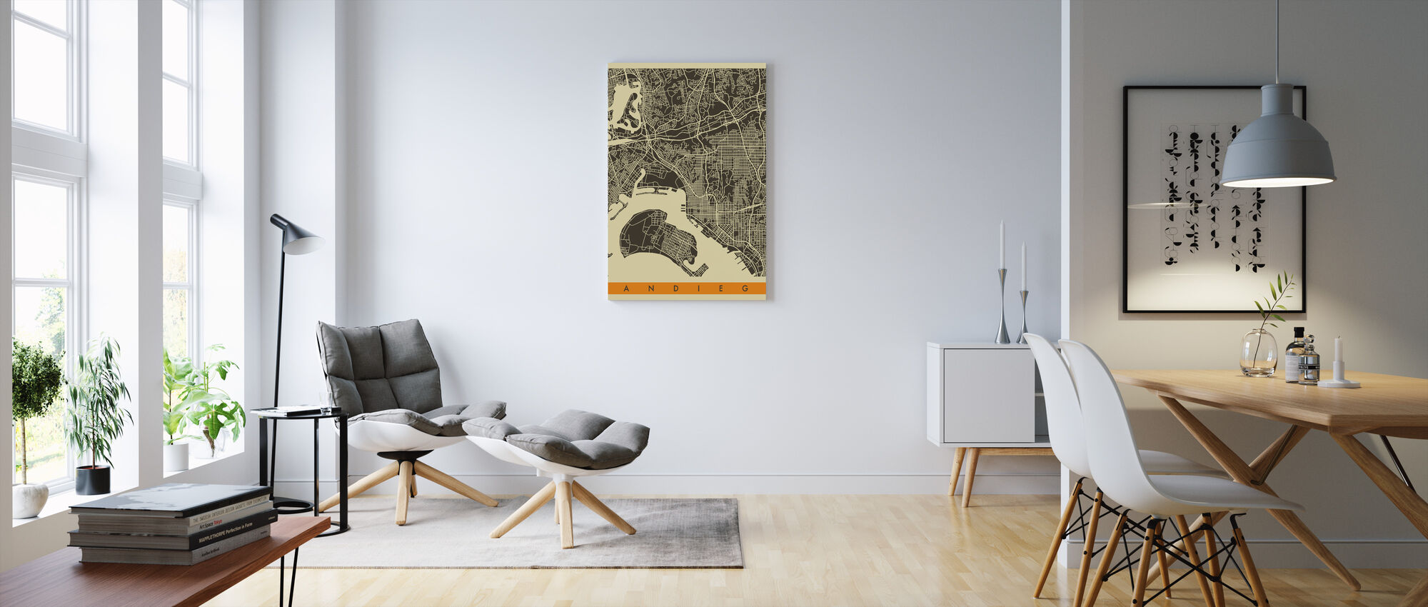 Bykart - San Diego - Lerretsbilde - Stue