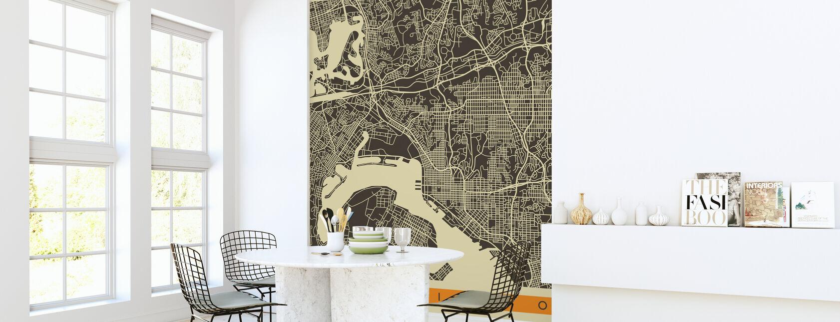 City Map - San Diego - Wallpaper - Kitchen