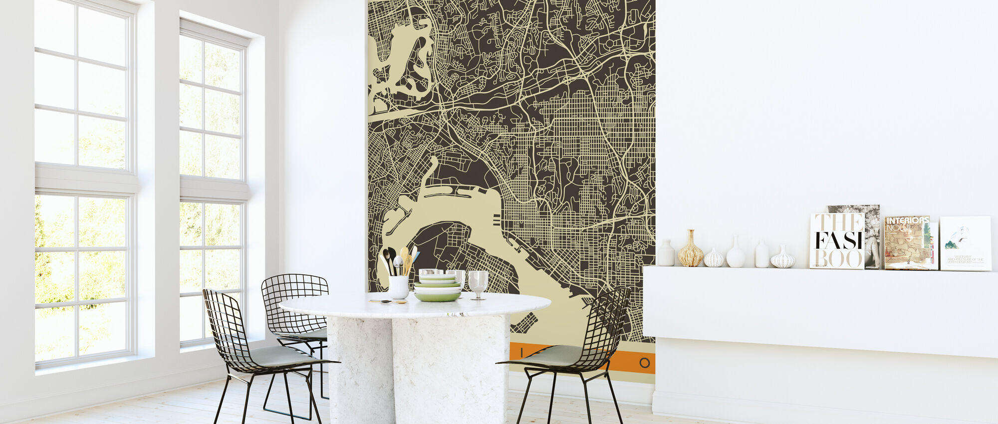 City Map - San Diego - Wallpaper - Kitchen