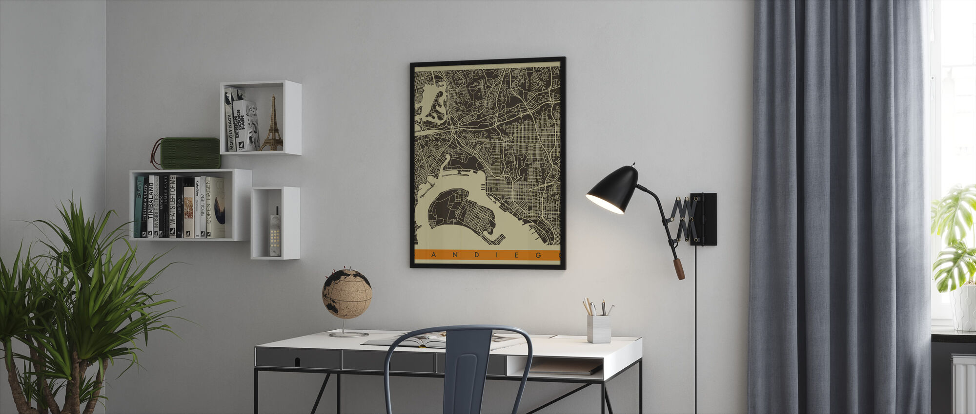 City Map - San Diego - Framed print - Office