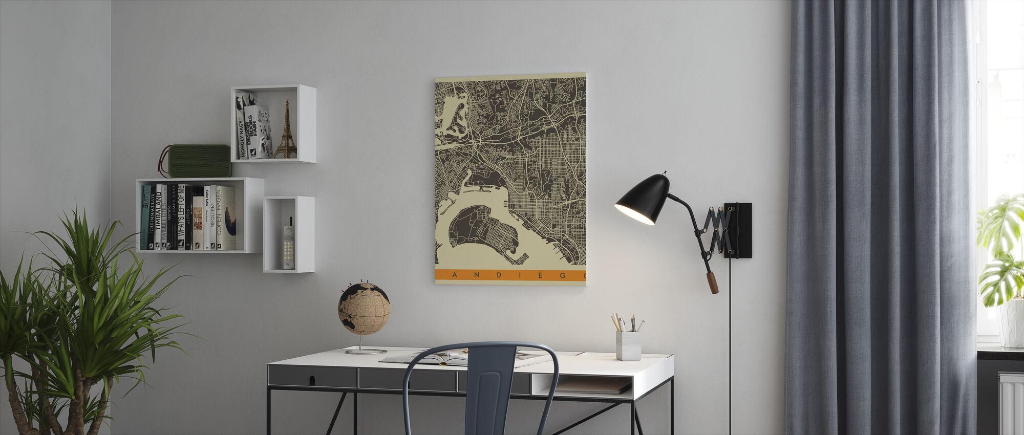City Map - San Diego - Canvas print - Office