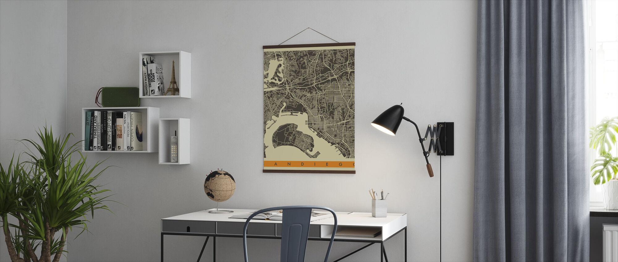 City Map - San Diego - Poster - Office