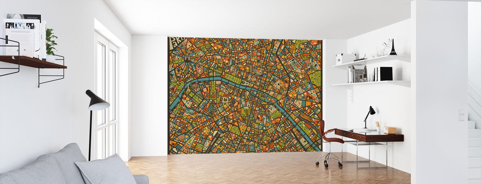 Paris Street Kaart - Behang - Kantoor