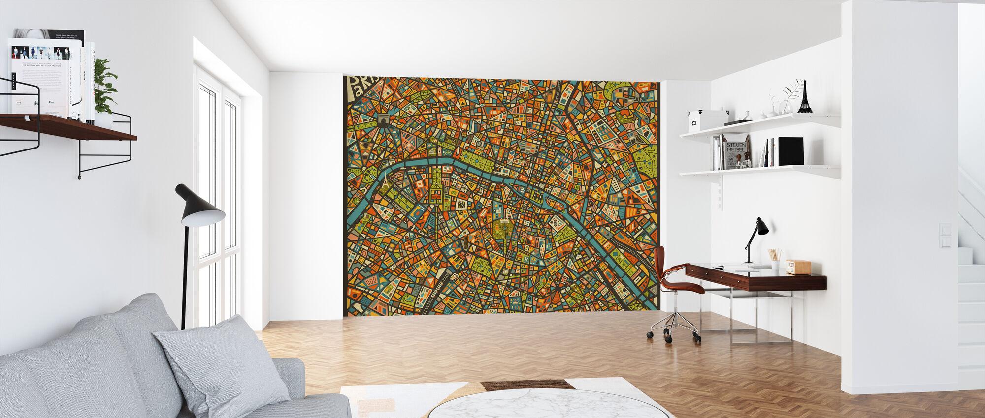 Paris Street Karta - Tapet - Kontor