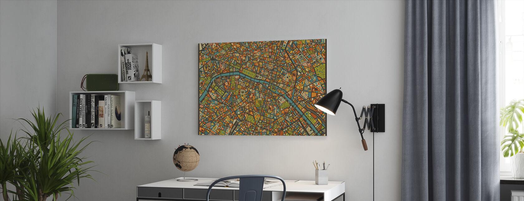 Paris Street Map - Canvas print - Office