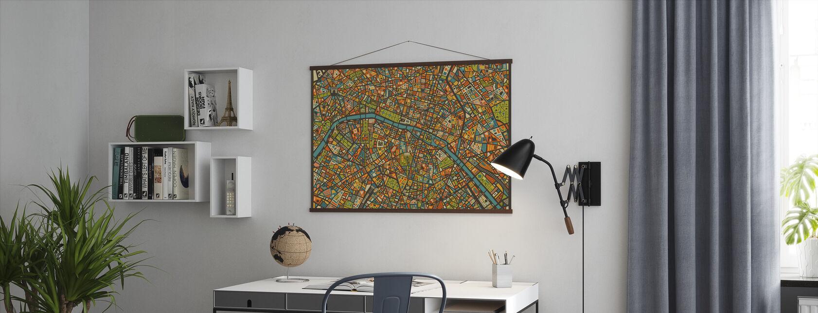 Paris Street Map - Poster - Office