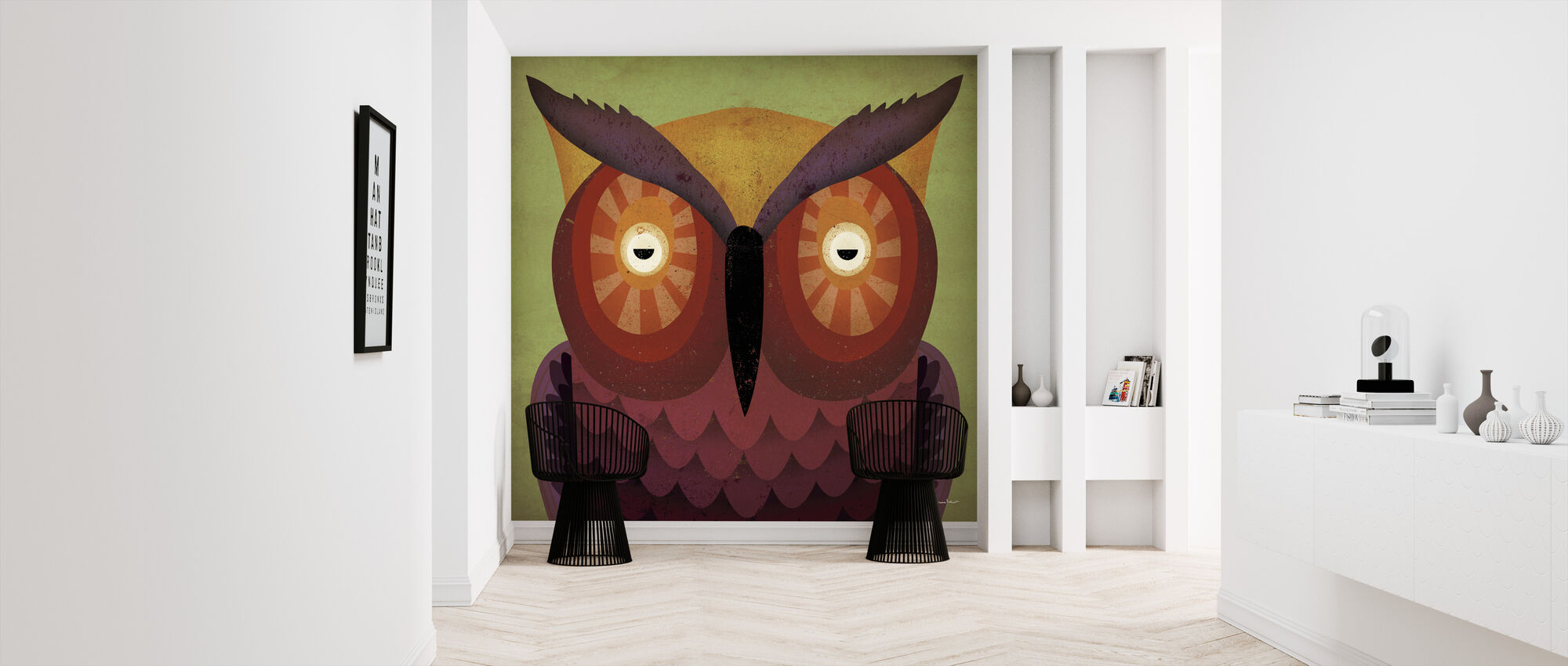 Ryan Fowler - Owl - Wallpaper - Hallway