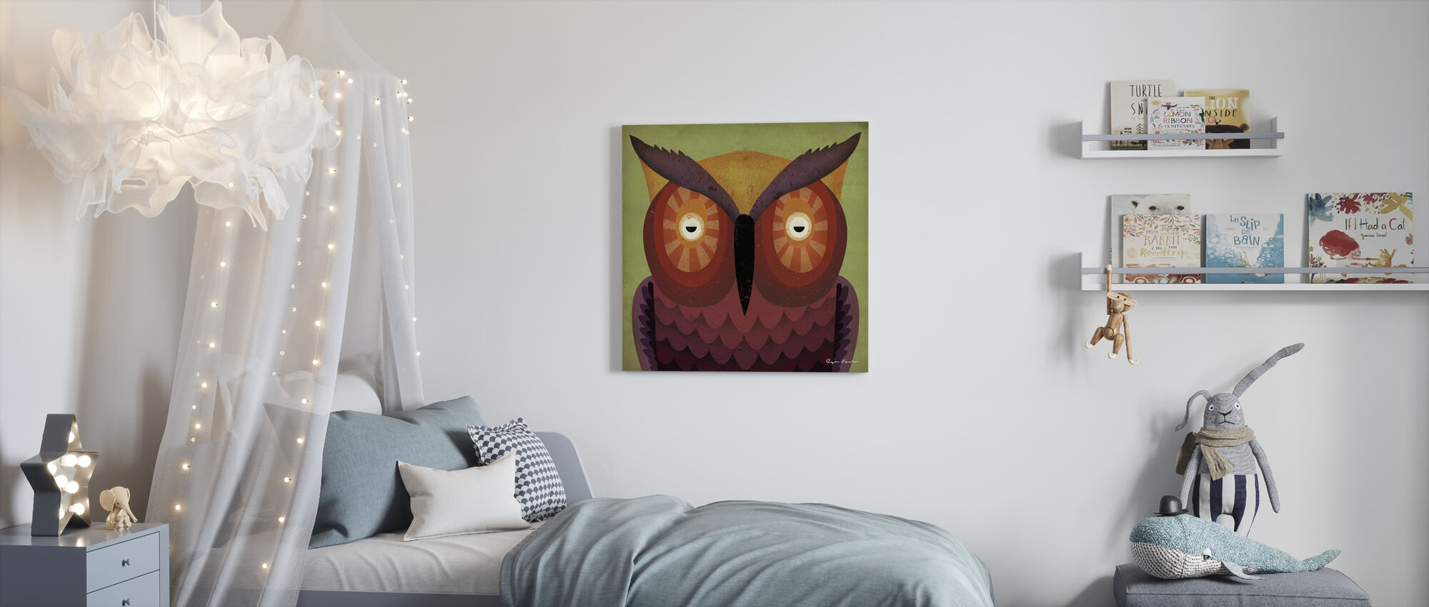 Ryan Fowler - Uil - Canvas print - Kinderkamer