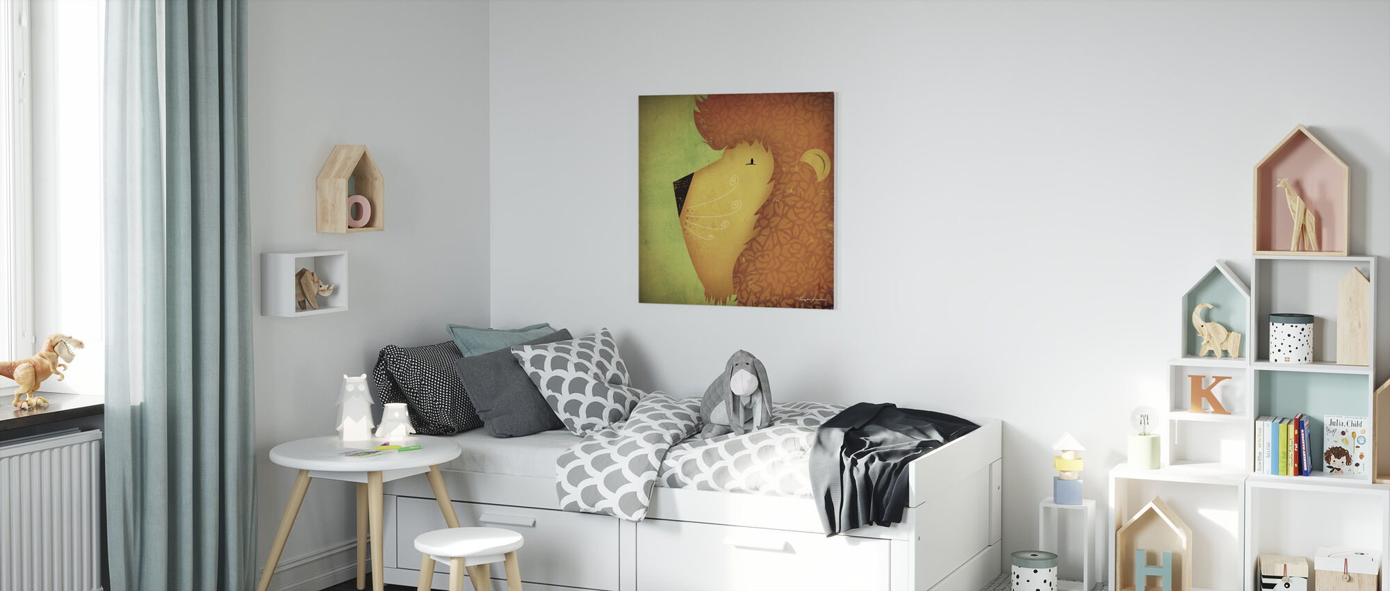 Ryan Fowler - Leeuw - Canvas print - Kinderkamer