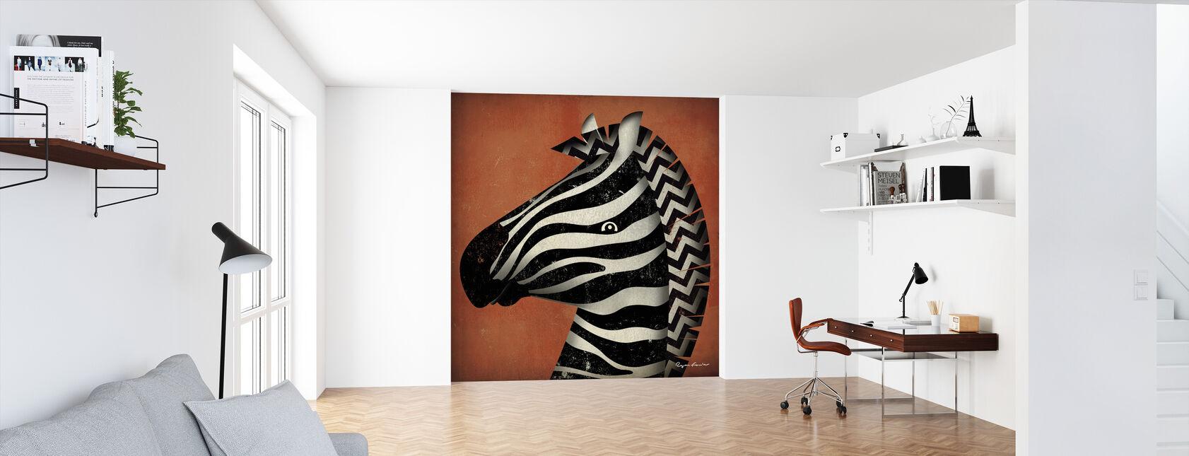Ryan Fowler - Zebra - Behang - Kantoor