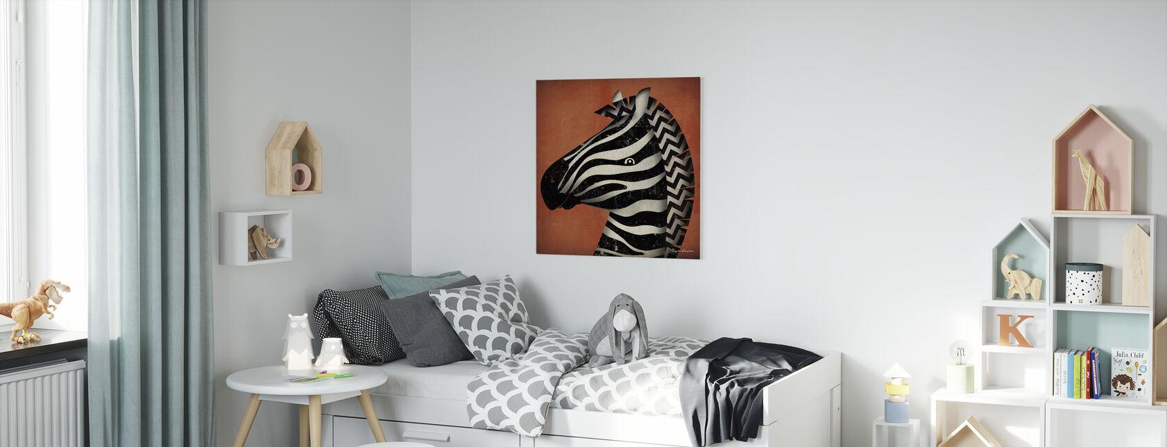 Ryan Fowler - Zebra - Canvas print - Kids Room