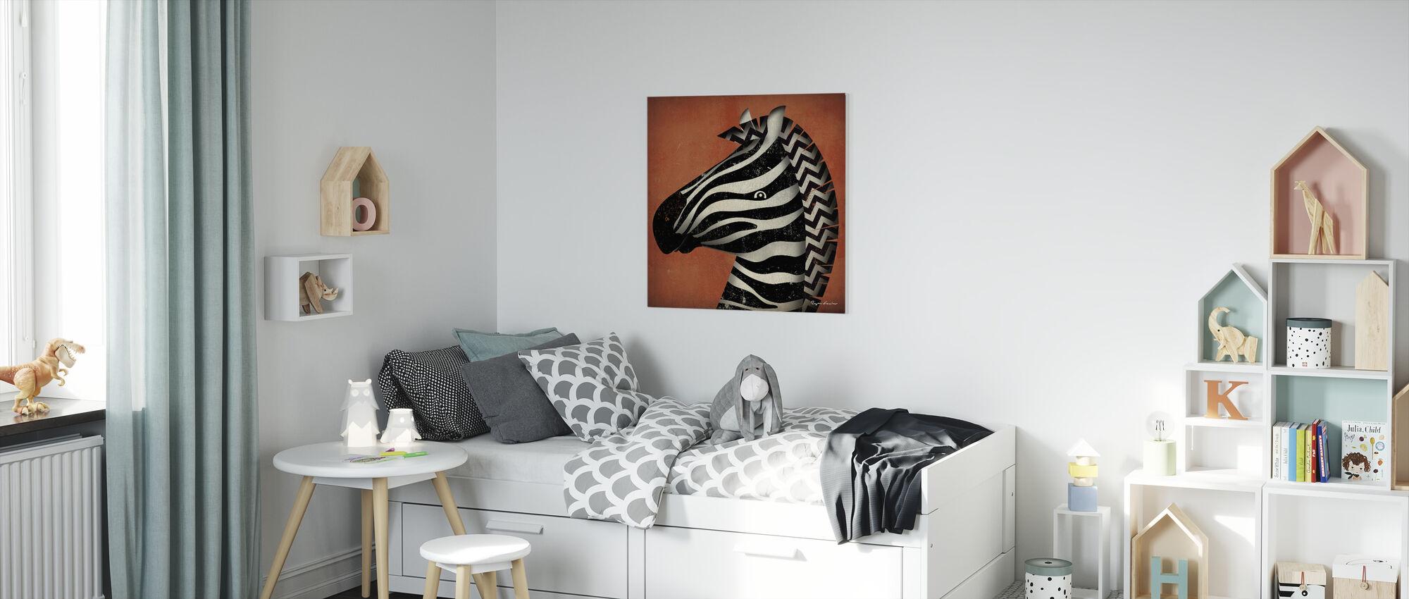 Ryan Fowler - Zebra - Canvas print - Kinderkamer