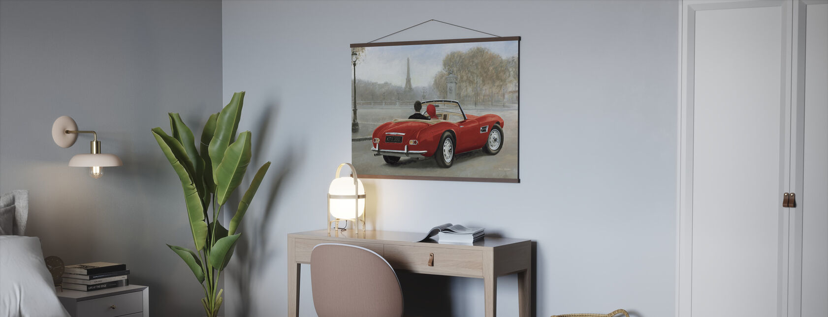 Een rit in Parijs III Red Car - Poster - Kantoor