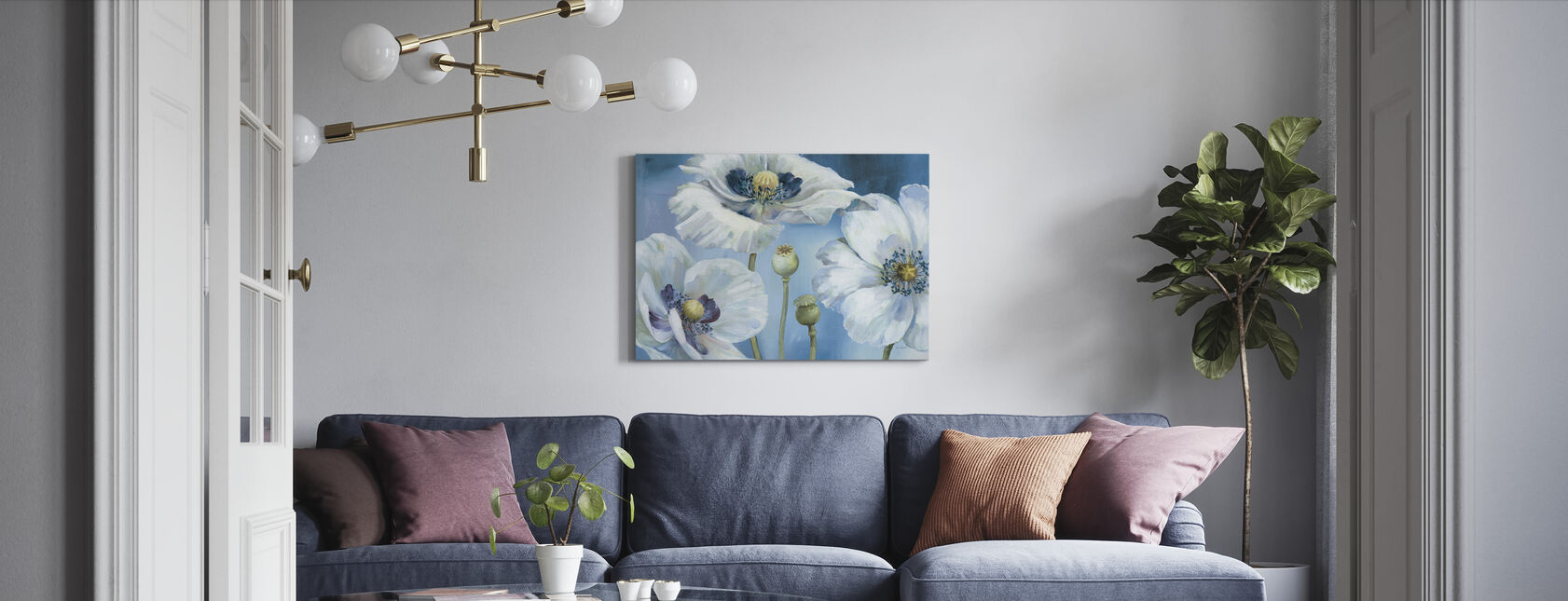 Blue Dance - Canvas print - Living Room