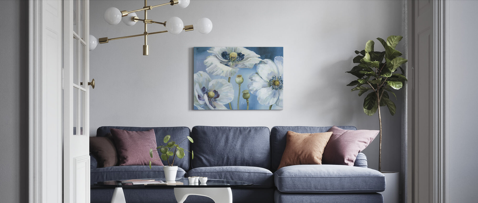 Blue Dance - Canvas print - Living Room