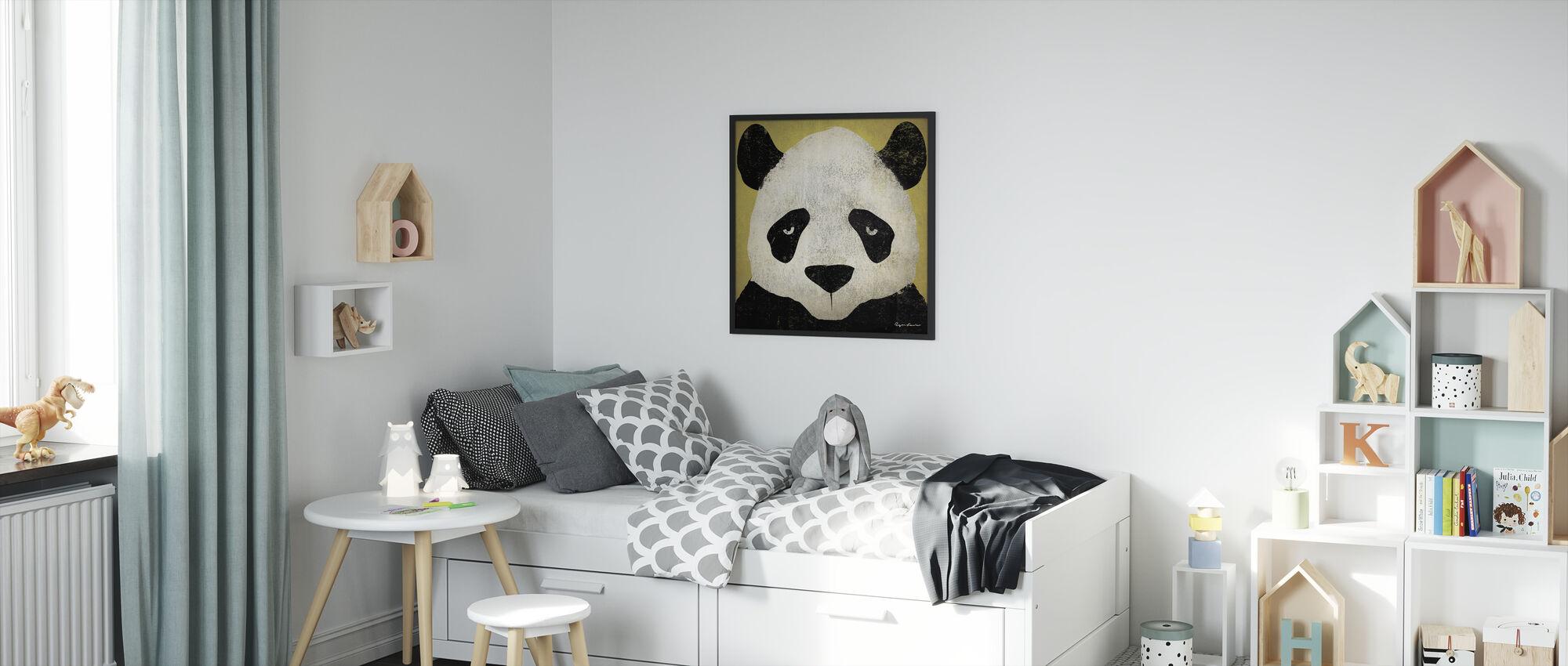 Ryan Fowler - Panda - Framed print - Kids Room