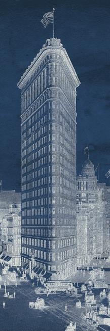 Flat Iron 1909 Blueprint Panel Fototapeter & Tapeter 100 x 100 cm