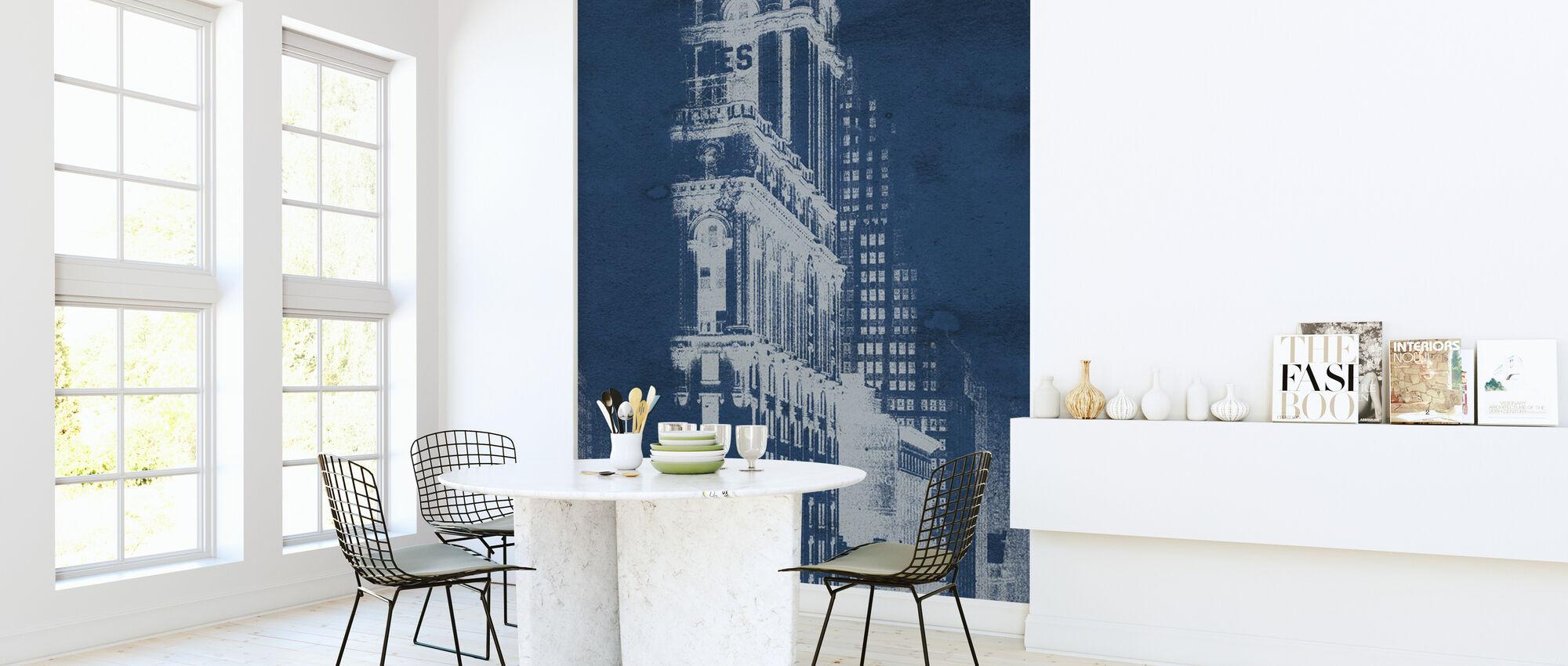 Times Square Postcard Blueprint Panel - Wallpaper - Kitchen