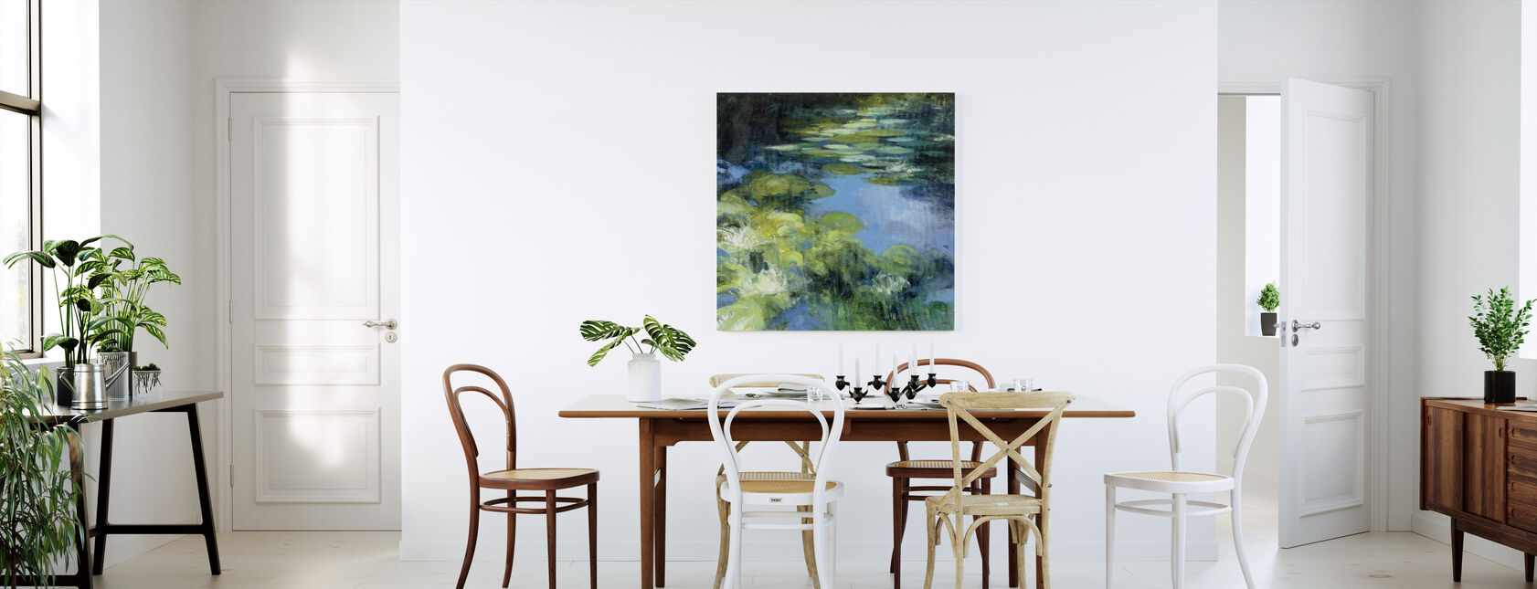 Water Lilies II - Canvas print - Kitchen