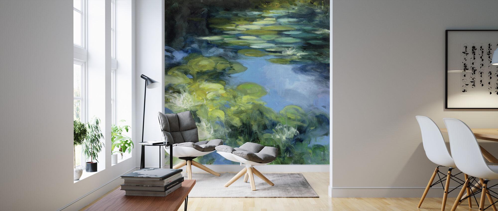 Water Lilies II - Wallpaper - Living Room