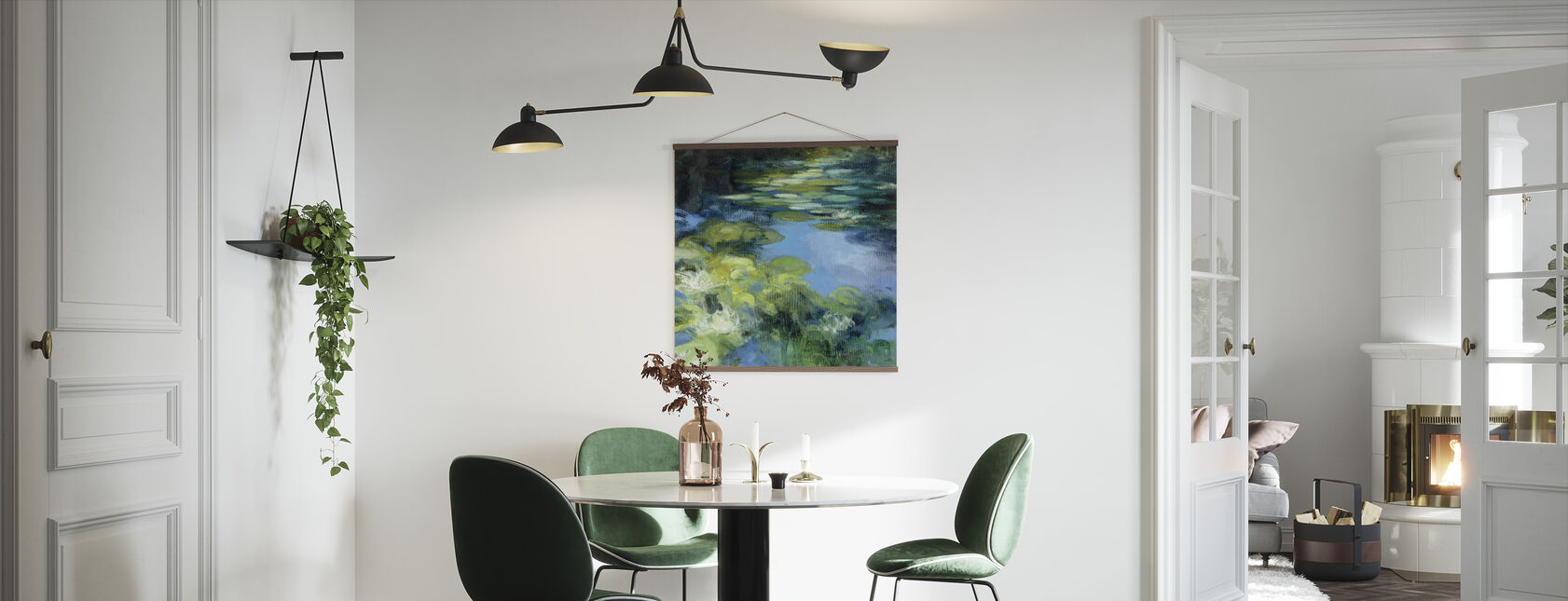 Water Lilies II - Poster - Kitchen