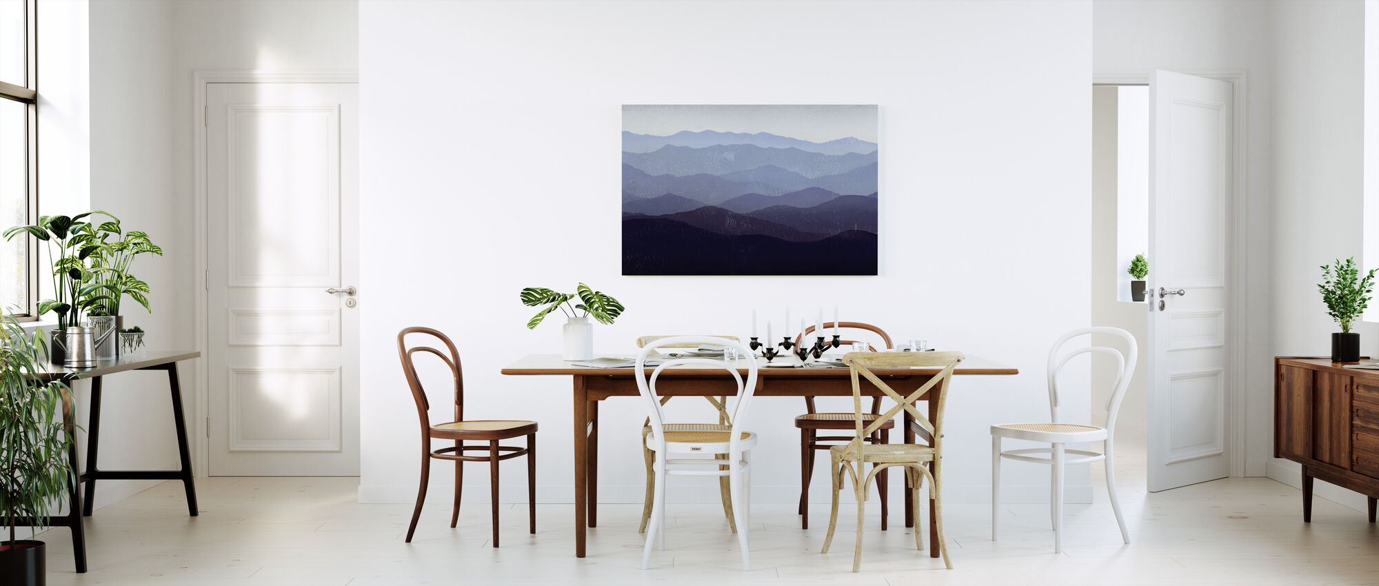 Ryan Fowler - Paarse Bergen - Canvas print - Keuken