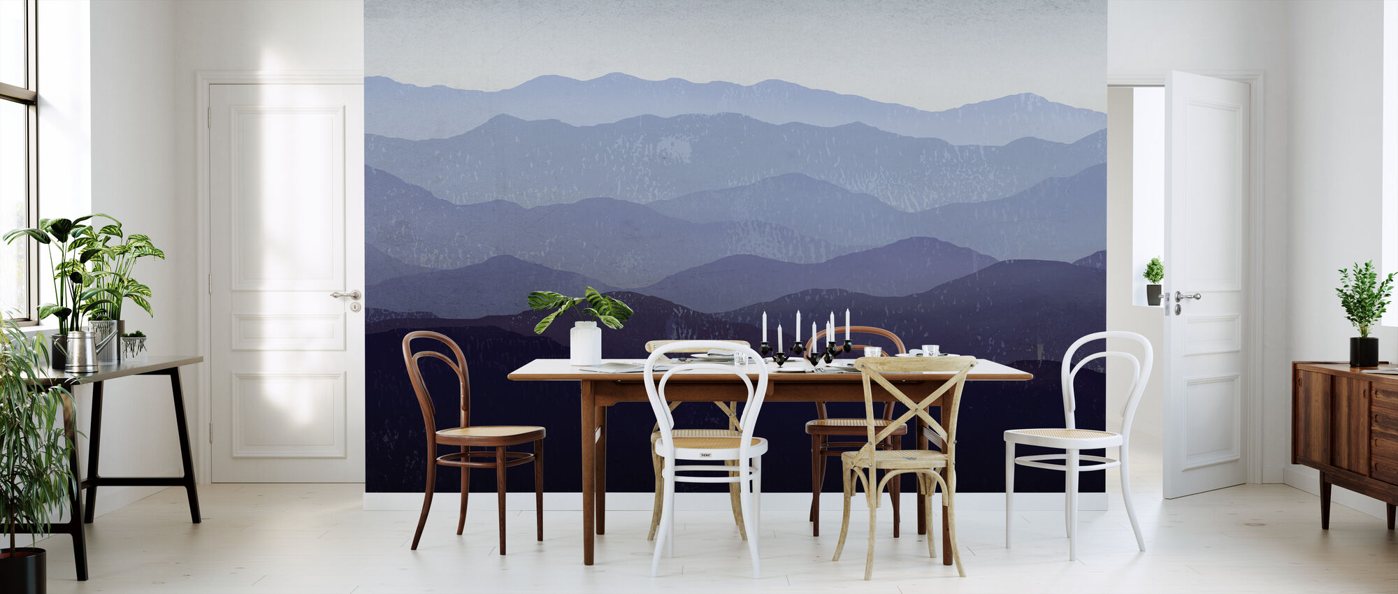 Ryan Fowler - Purple Mountains - Wallpaper - Kitchen