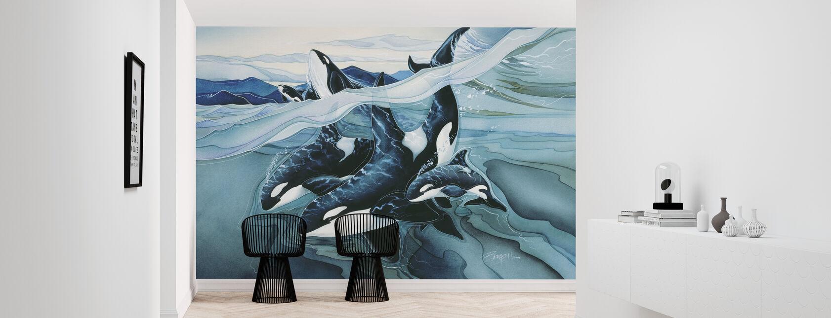 Blue Orca Familien - Tapete - Flur