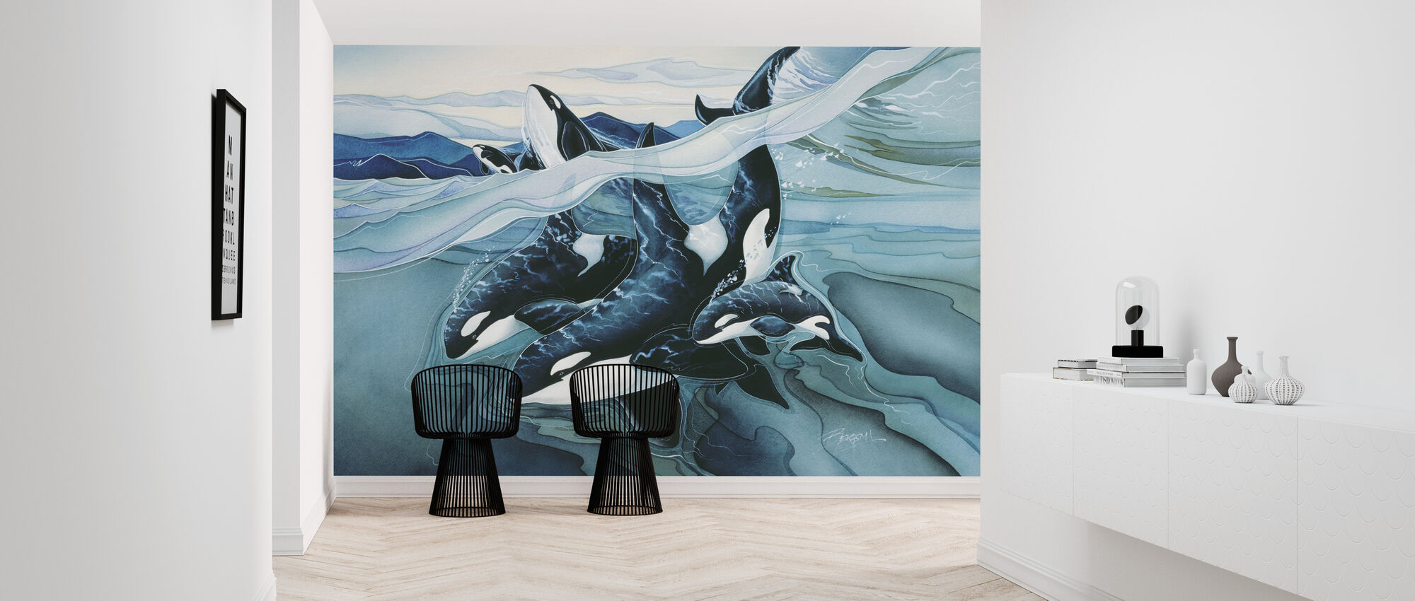 Blå Orca familier - Tapet - Gang