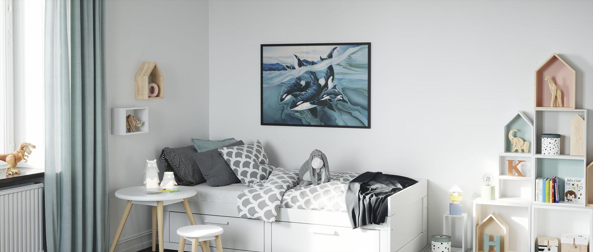 Blue Orca -perheet - Kehystetty kuva - Lastenhuone