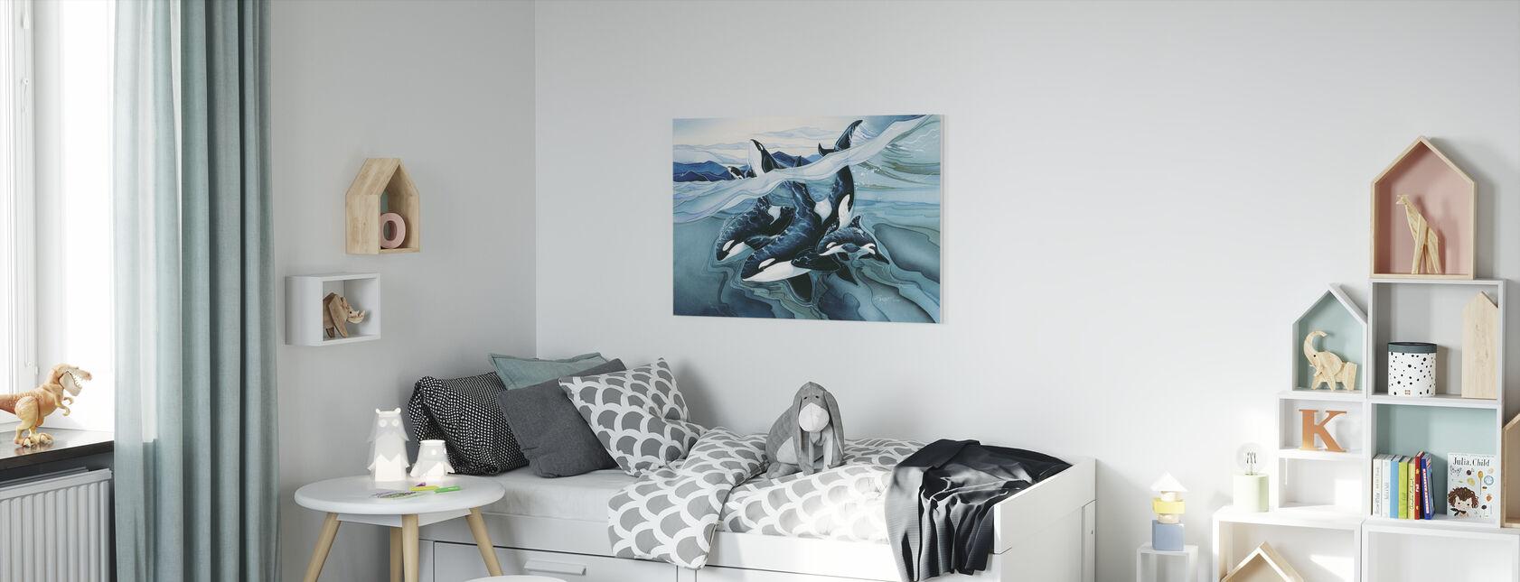 Blue Orca Families - Canvas print - Kids Room