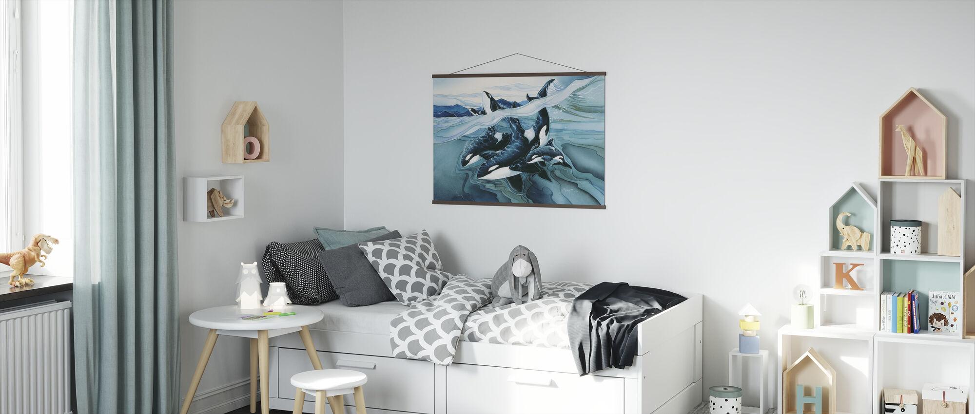 Blue Orca -perheet - Juliste - Lastenhuone