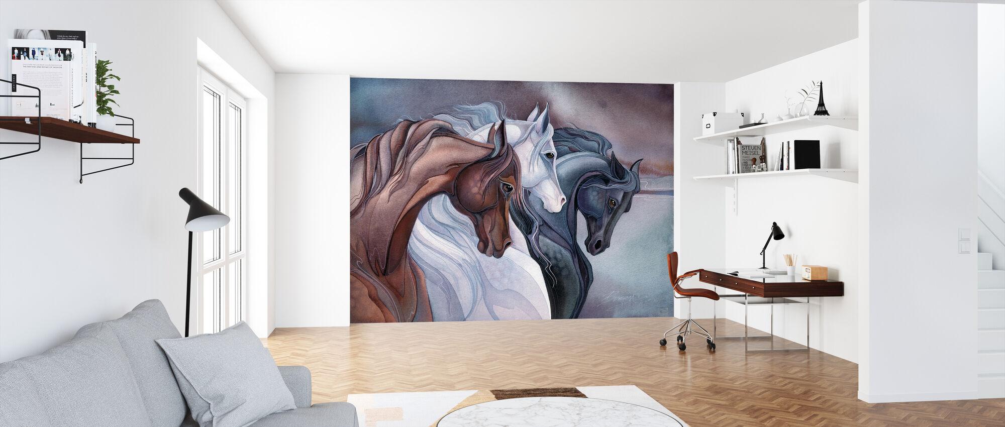 Elegant Horses - Wallpaper - Office