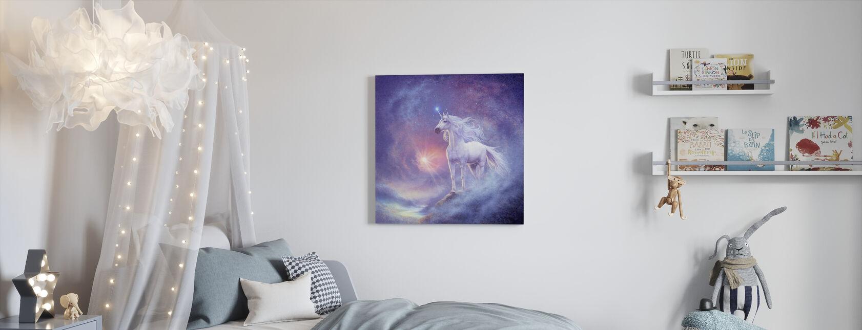 Astral Enhörning - Canvastavla - Barnrum