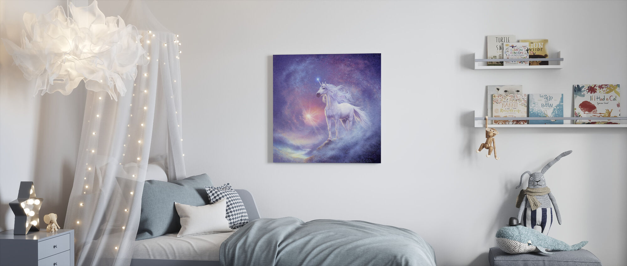 Astral Unicorn - Canvas print - Kids Room