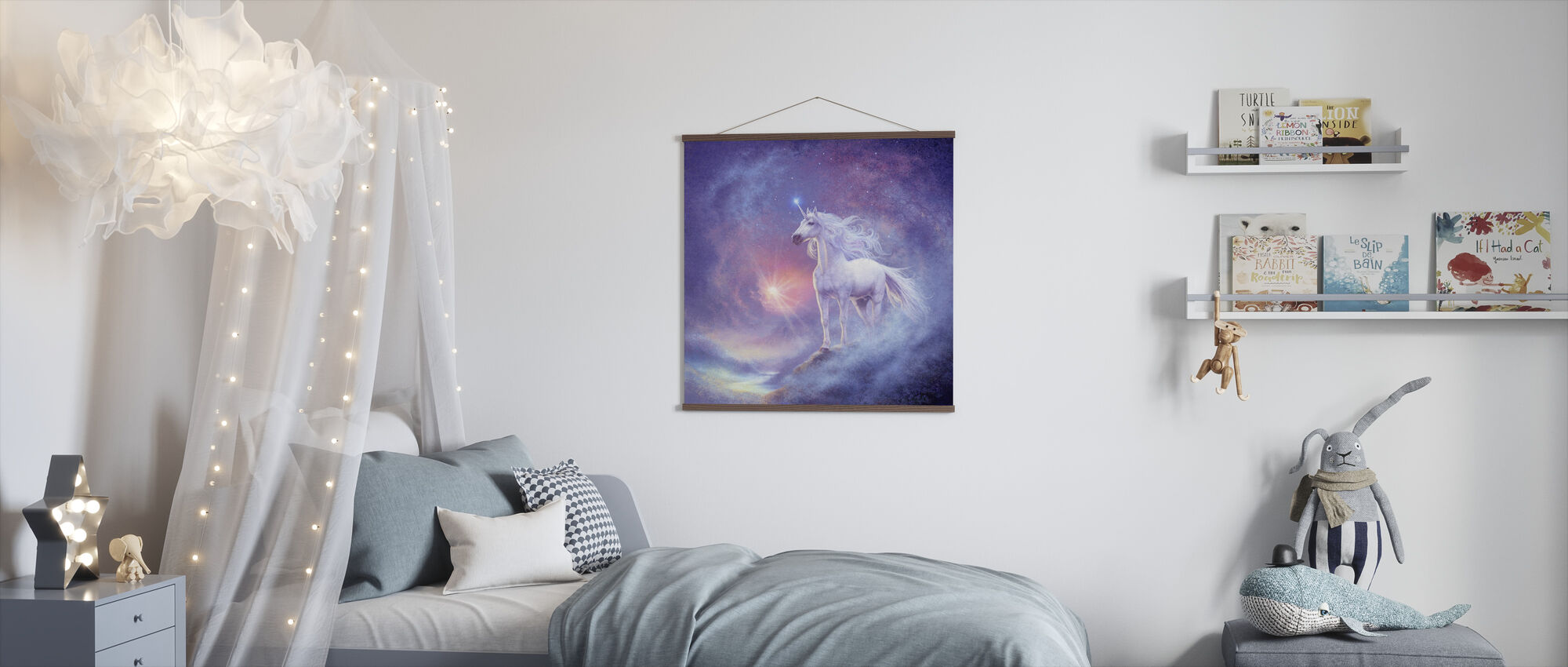Astral Unicorn - Poster - Kids Room