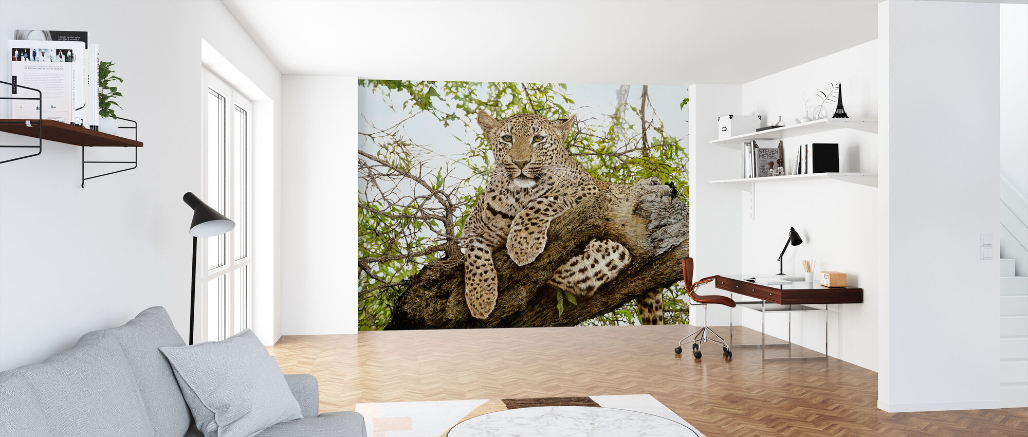 Anticipation Leopard - Wallpaper - Office